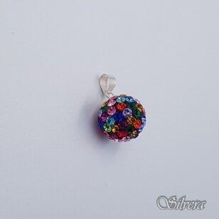 Sidabrinis pakabukas su swarovski kristalais P247