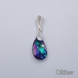 Sidabrinis pakabukas su swarovski kristalu P4047
