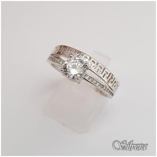 Sidabrinis žiedas su cirkoniais Z104; 16,5 mm