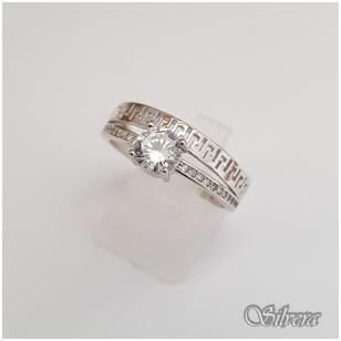 Sidabrinis žiedas su cirkoniais Z104; 17,5 mm