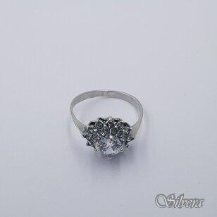 Sidabrinis žiedas su cirkoniais Z1302; 16,5 mm