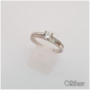 Sidabrinis žiedas su cirkoniais Z133; 17 mm