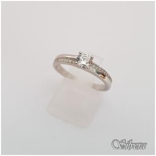Sidabrinis žiedas su cirkoniais Z133; 18 mm
