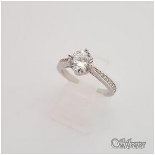 Sidabrinis žiedas su cirkoniais Z136; 16,5 mm
