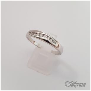 Sidabrinis žiedas su cirkoniais Z145; 20,5 mm