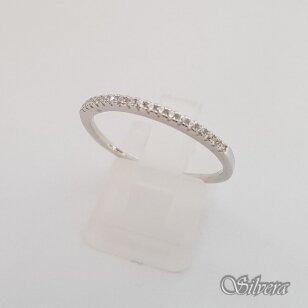 Sidabrinis žiedas su cirkoniais Z178; 20,5 mm