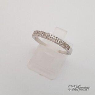 Sidabrinis žiedas su cirkoniais Z180; 17,5 mm
