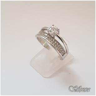 Sidabrinis žiedas su cirkoniais Z2005; 17,5 mm