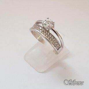 Sidabrinis žiedas su cirkoniais Z2005; 19,5 mm