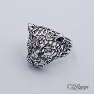 Sidabrinis žiedas su cirkoniais Z208; 20,5 mm