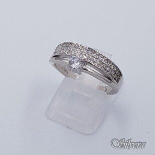 Sidabrinis žiedas su cirkoniais Z229; 19,5 mm