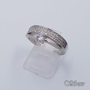 Sidabrinis žiedas su cirkoniais Z229; 20 mm