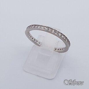 Sidabrinis žiedas su cirkoniais Z242; 18 mm