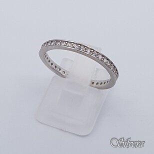 Sidabrinis žiedas su cirkoniais Z242; 19 mm