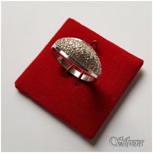 Sidabrinis žiedas su cirkoniu Z030; 16,5 mm