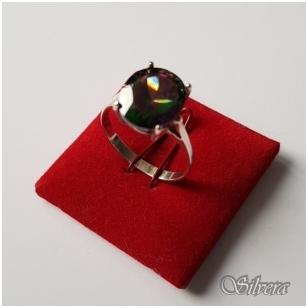 Sidabrinis žiedas su cirkoniu Z057; 18 mm