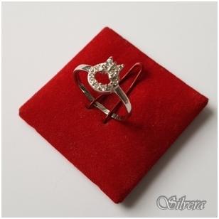 Sidabrinis žiedas su cirkoniu Z075; 16 mm