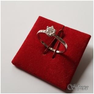 Sidabrinis žiedas su cirkoniu Z081; 14,5 mm