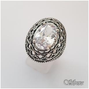 Sidabrinis žiedas su cirkoniu Z087; 20 mm