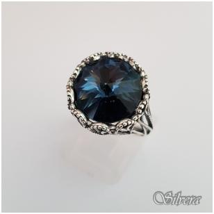 Sidabrinis žiedas su cirkoniu Z1090; 20 mm