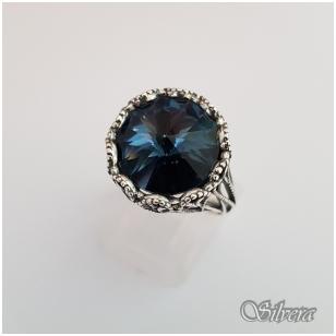 Sidabrinis žiedas su cirkoniu Z1090; 21,5 mm