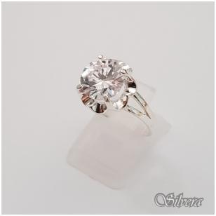 Sidabrinis žiedas su cirkoniu Z1297; 17,5 mm