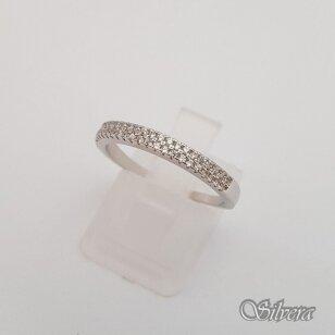 Sidabrinis žiedas su cirkoniais Z180; 19 mm