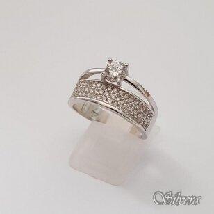 Sidabrinis žiedas su cirkoniu Z187; 17,5 mm