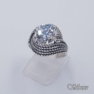 Sidabrinis žiedas su cirkoniu Z240; 19 mm