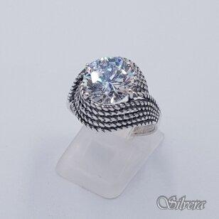 Sidabrinis žiedas su cirkoniu Z240; 19,5 mm