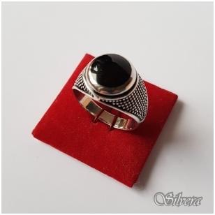 Sidabrinis žiedas su emaliu Z2023; 21 mm
