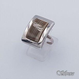 Sidabrinis žiedas su hematitu Z215; 18 mm