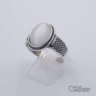 Sidabrinis žiedas su katės akies akmeniu Z198; 20 mm