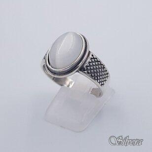 Sidabrinis žiedas su katės akies akmeniu Z198; 20,5 mm