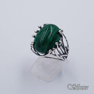 Sidabrinis žiedas su malachitu Z1426; 19 mm