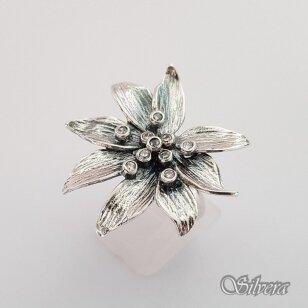 Sidabrinis žiedas su cirkoniais Z181; 17,5 mm