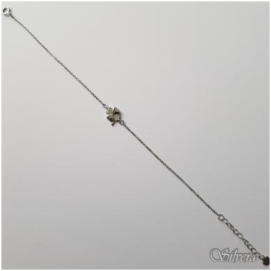 Sidabrinė apyrankė su cirkoniais AF39; 17-20 cm 2