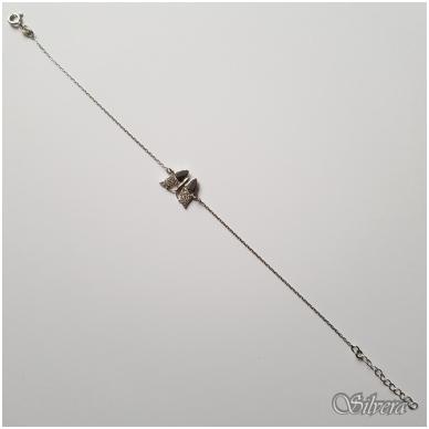 Sidabrinė apyrankė su cirkoniu AF18; 18-20,5 cm 2