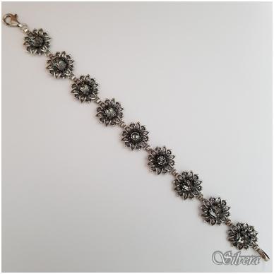Sidabrinė apyrankė su swarovski kristalais A4001; 19,5 cm 2