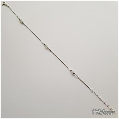 Sidabrinė apyrankė su swarovski kristalais AF48; 18,5-23 cm 2
