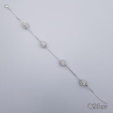 Sidabrinė apyrankė su swarovski kristalais AK88; 18 cm 2