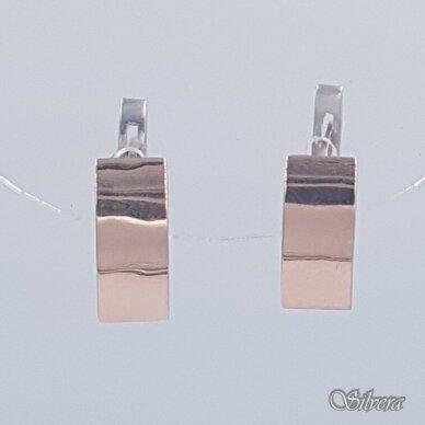 Sidabriniai auskarai su aukso detalėmis Au1484 2
