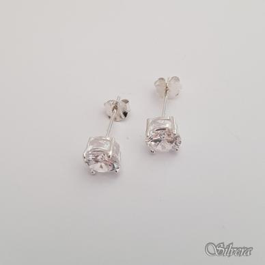 Sidabriniai auskarai su cirkoniu Au226