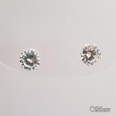 Sidabriniai auskarai su cirkoniu Au226 2