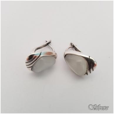 Sidabriniai auskarai su katės akies akmeniu Au1021 2