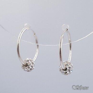 Sidabriniai auskarai su swakovski kristalais Au6152 2