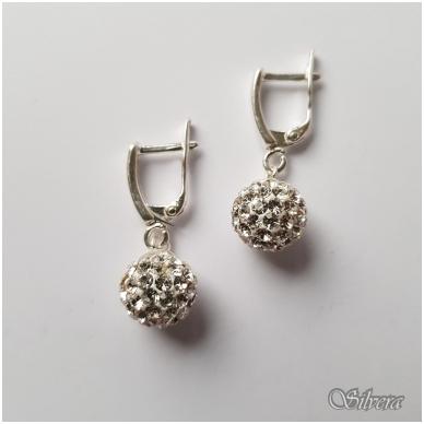 Sidabriniai auskarai su swarovski kristalais Au1135 2