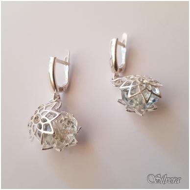 Sidabriniai auskarai su swarovski kristalais Au1232 2