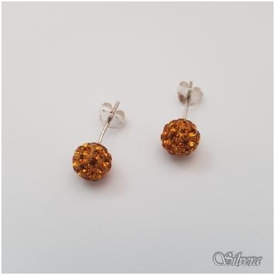 Sidabriniai auskarai su swarovski kristalais Au717
