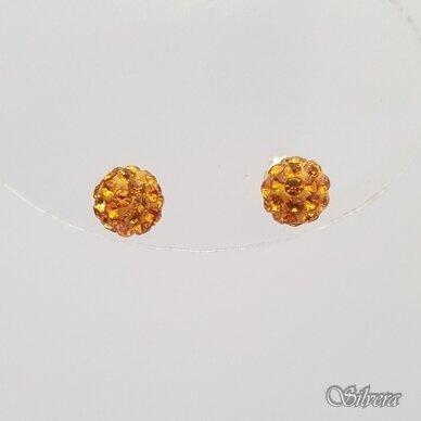 Sidabriniai auskarai su swarovski kristalais Au717 2